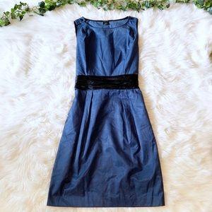 Club Monaco Blue Silk A-Line Mini Dress